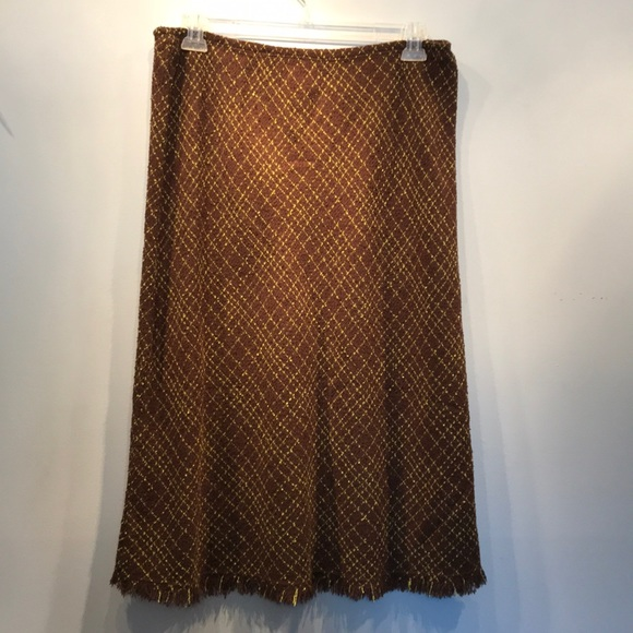 J. Marco Dresses & Skirts - NWOT Brown and green woven skirt